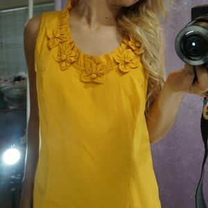 Alfani yellow flower top